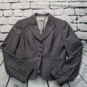 TAHARI Arthur S Levine charcoal blazer sz 4P
